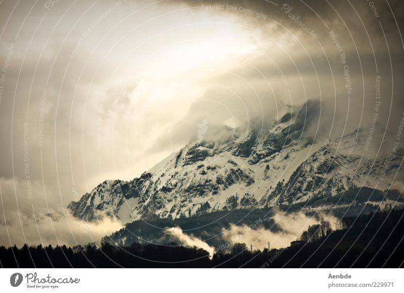 Nature Green Clouds Environment Landscape Mountain Gray Stone Dream Moody Brown Wind Esthetic Threat Elements Alps