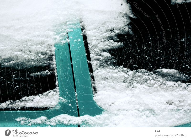 Green White Winter Black Cold Snow Metal Car Ice Glittering Car Window Car door Vehicle Copy Space Varnish Cover