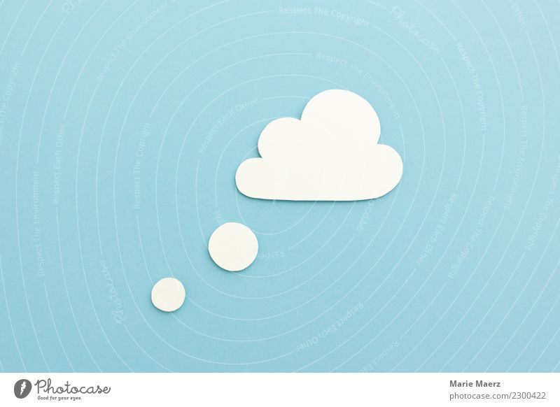 Blue White Relaxation Clouds Far-off places Happy Dream Esthetic Creativity Future Paper Sleep Planning Soft Infinity Desire
