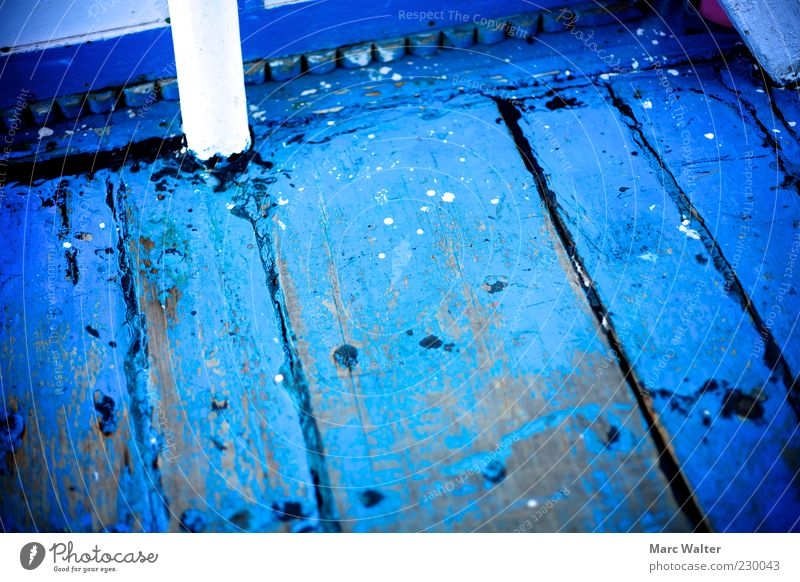 Blue. Wood Steel Old Authentic Dirty Cold Natural Original Crazy Esthetic Uniqueness Colour Plank Ground Floor covering Wooden floor Watercraft Paintwork