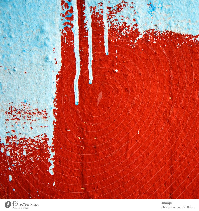 Blue White Red Colour Wall (building) Graffiti Style Dye Wall (barrier) Line Background picture Facade Concrete Design Wild Crazy