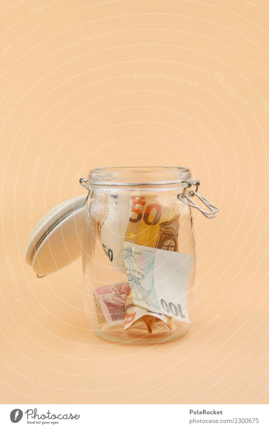 #A# MoneyGlass Art Esthetic Save Financial institution Coin Bank note Donation Monetary capital Financial backer Financial transaction 50 Euro Euro symbol
