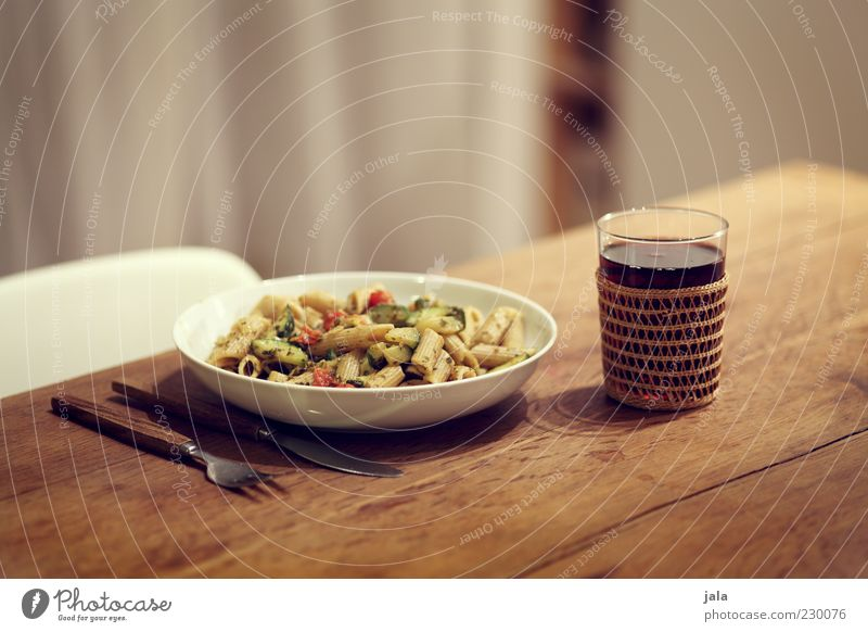pasta & wine Food Vegetable Noodles Nutrition Lunch Dinner Organic produce Vegetarian diet Italian Food Beverage Wine Crockery Plate Glass Cutlery Knives Fork