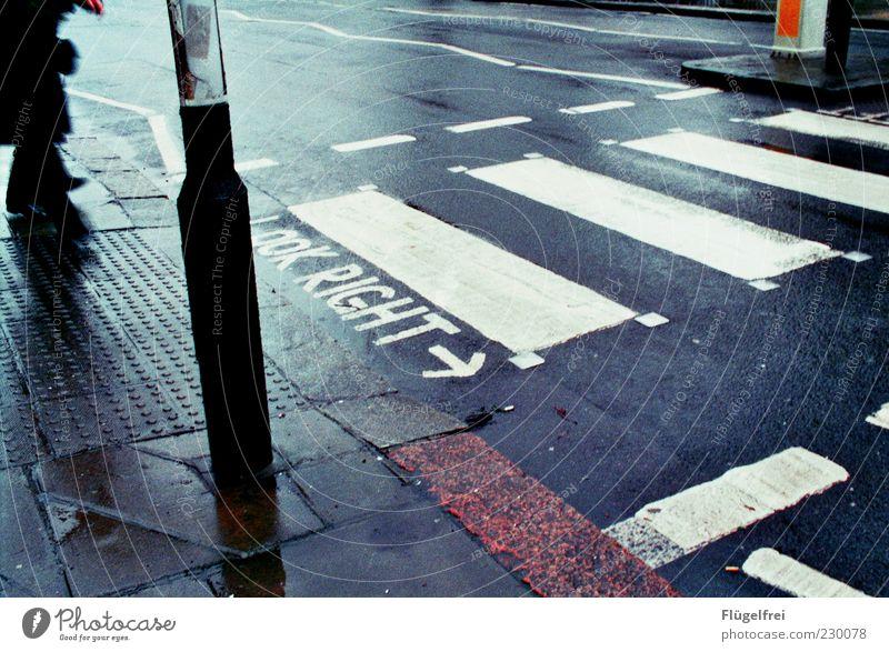 City Going Wait Stand Wet Dangerous Rainwater Asphalt Sidewalk Lantern Analog London Vintage England Pedestrian Road traffic