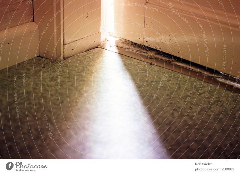 behind the door Room Door Dark Bright Truth Curiosity Hope Fear Worm-eaten Doorstep Mystic Illuminate Shaft of light Beam of light Flare Floor covering