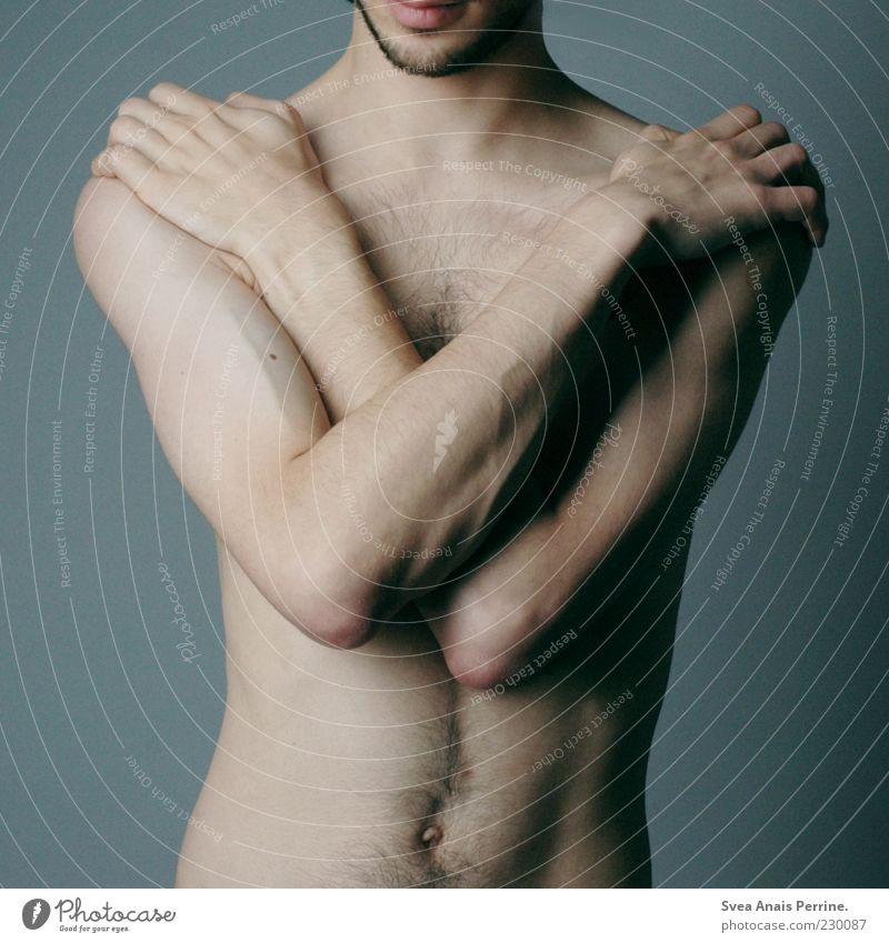 450. Masculine Body Skin 1 Human being 18 - 30 years Youth (Young adults) Adults Exceptional Uniqueness Cold Naked Colour photo Studio shot Neutral Background