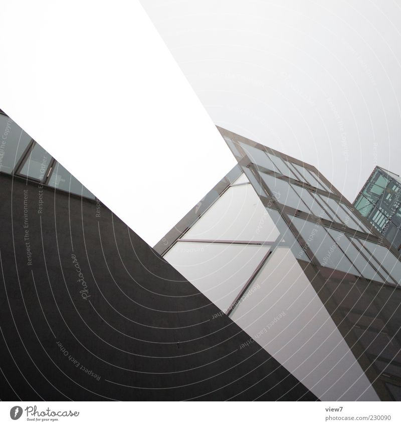 Black House (Residential Structure) Dark Window Wall (building) Architecture Building Wall (barrier) Line Glass Facade Concrete Large Design Modern