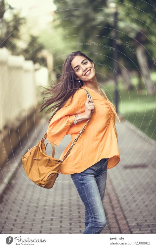 Young woman with moving hair wearing casual clothes Lifestyle Style Happy Beautiful Hair and hairstyles Human being Feminine Youth (Young adults) Woman Adults 1