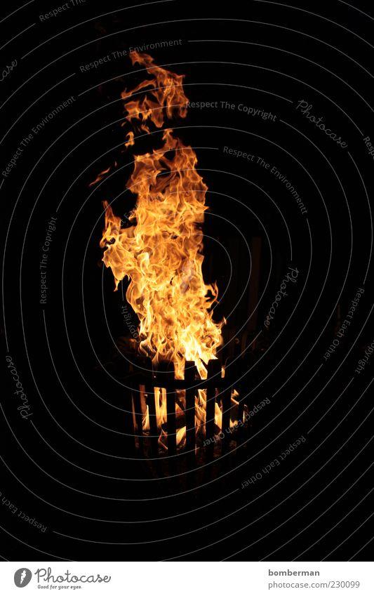 Warmth Metal Bright Fire Illuminate Hot Burn Flame Basket Fireplace Night shot Camp fire atmosphere