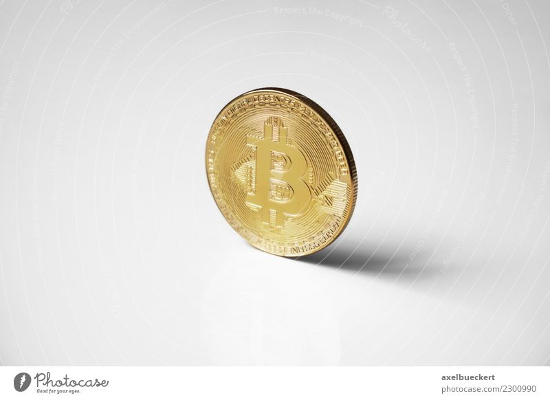 Bitcoin coin Economy Financial Industry Stock market Business Information Technology Internet Luxury Cryptocurrency Media hype Symbols and metaphors Money Coin