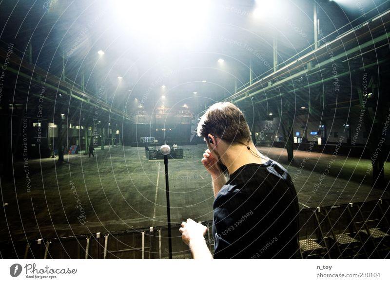Man Music Art Lighting Wait Culture Profession Target Factory Concert Serene Rock music Stage Event Warehouse