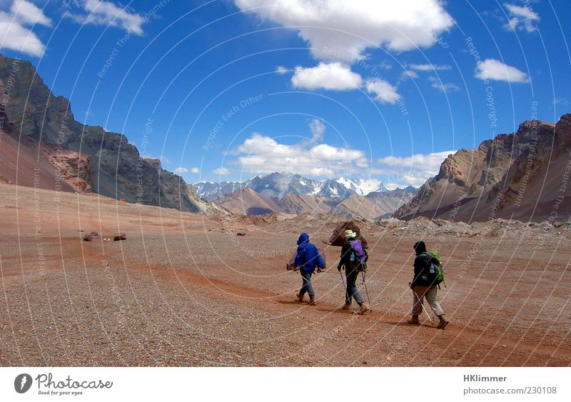 Aconcagua Trekking Hiking Nature Landscape Rock Mountain Peak Lanes & trails Discover Going Vacation & Travel Experience Relaxation Calm Environment