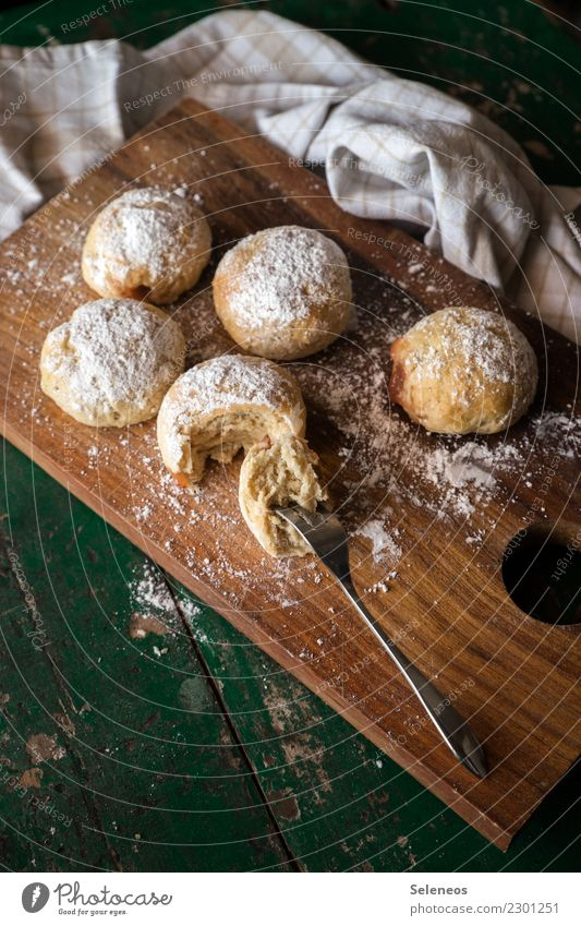 Eating Food Nutrition To enjoy Sweet Delicious Candy Grain Cake Baked goods Dough Donut To have a coffee Baking Pancake Confectioner`s sugar