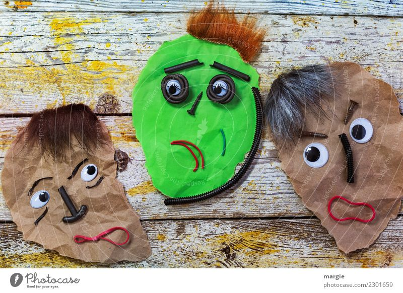 Emotions...cool faces: It's all over on Ash Wednesday! Human being Masculine Feminine Androgynous Woman Adults Man Face Eyes Nose Mouth 3 Brown Yellow Green Red