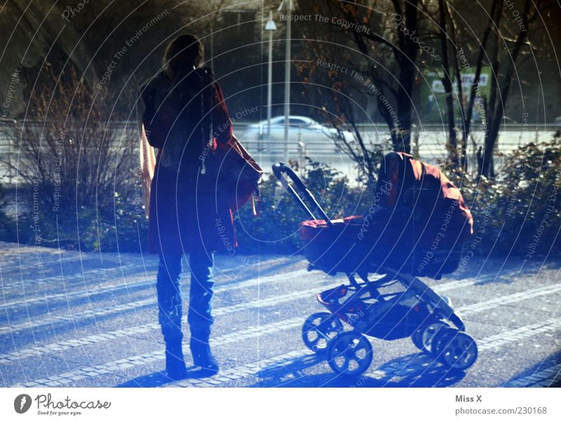 Miss X and Mr X Jr. Human being Young woman Youth (Young adults) Woman Adults Parents Mother Family & Relations 2 18 - 30 years Baby carriage Mirror image