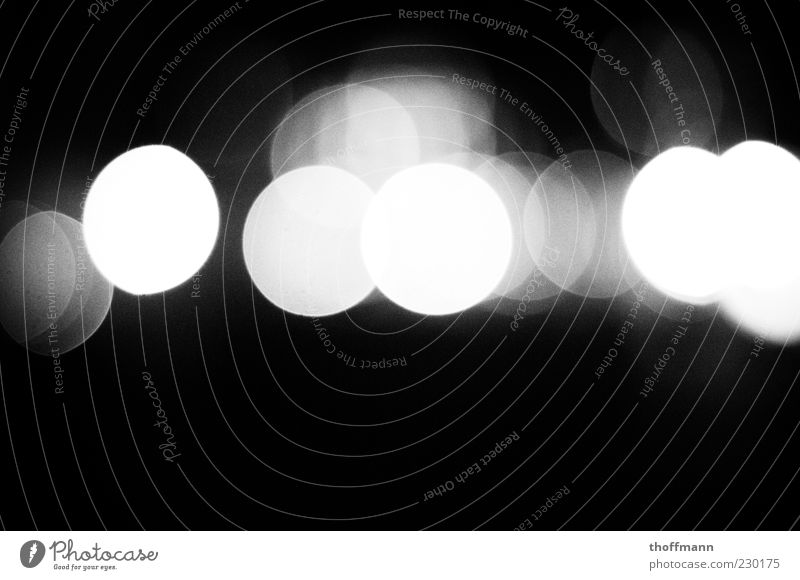 Calm Multiple Exceptional Circle Black & white photo Fatigue Alcohol-fueled Night Point of light Emotions Intoxication Sea of light