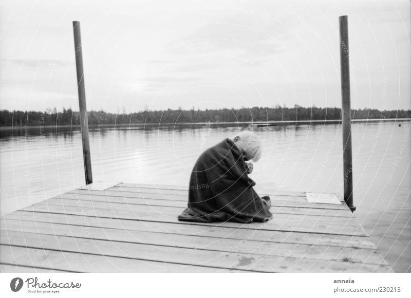 Child Water Vacation & Travel Summer Calm Freedom Boy (child) Wood Happy Lake Infancy Sit Warm-heartedness Idyll Longing