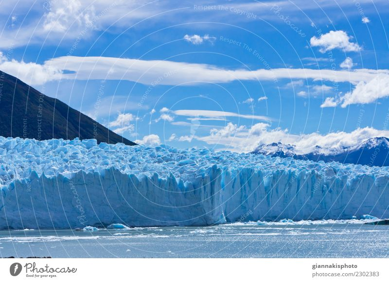 Blue Glacier, Patagonia, Argentina, South America Beautiful Vacation & Travel Tourism Adventure Snow Mountain Nature Landscape Earth Water Sky Clouds Horizon
