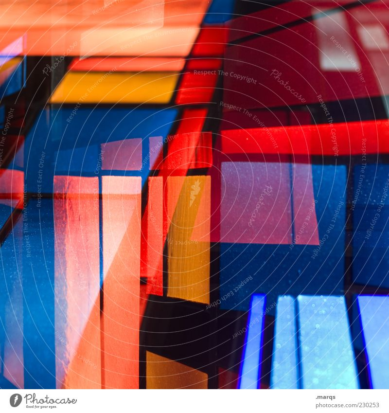 Colour Style Line Art Glass Design Crazy Exceptional Perspective Lifestyle Illuminate Uniqueness Whimsical Chaos Double exposure