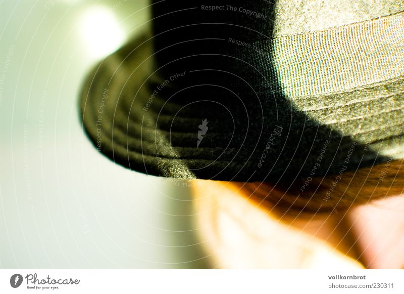 Youth (Young adults) Black Style Young woman Hat Brunette Woman Human being Tasty Blur Bird's-eye view Hat brim