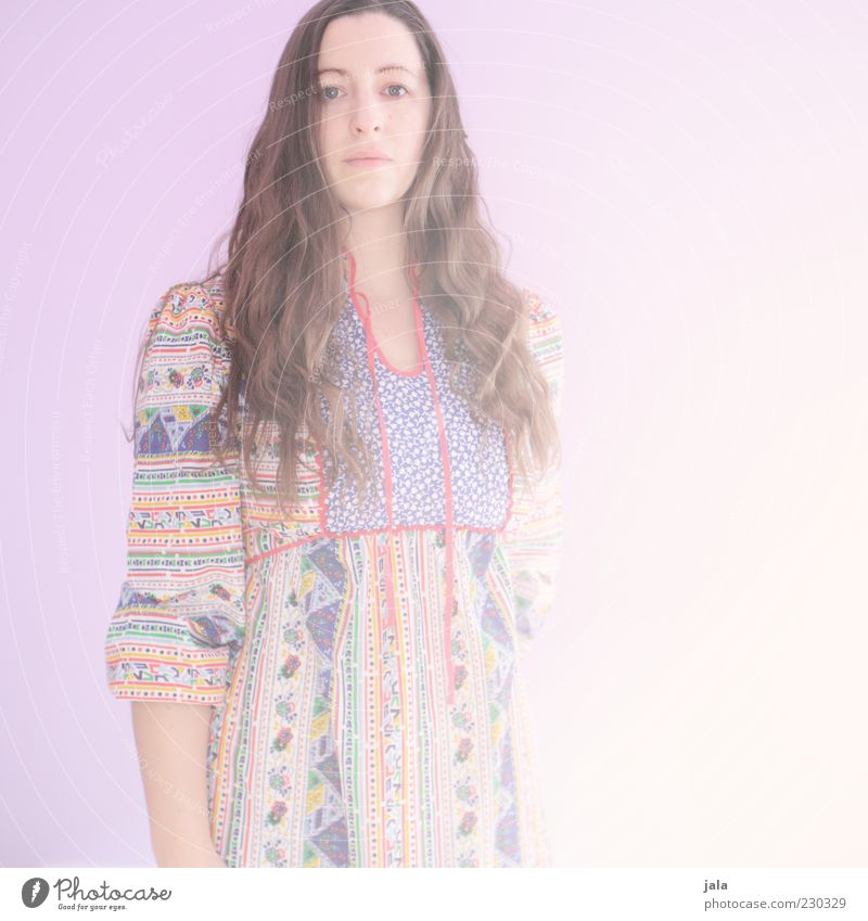 living in the sunlight Human being Feminine Woman Adults 1 30 - 45 years Dress Brunette Long-haired Bright Colour photo Interior shot Copy Space right