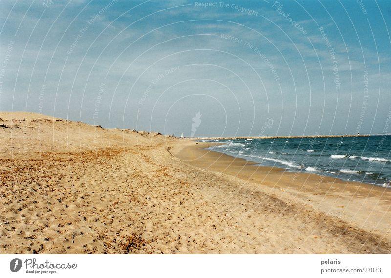 Ocean Summer Beach Loneliness Waves Europe Spain Beautiful weather Blue sky