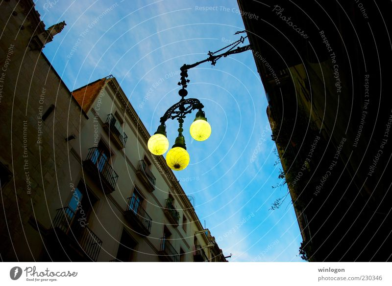 a southern light Sky Old City Summer Vacation & Travel Far-off places Black House (Residential Structure) Yellow Street Window Style Bright Art Going Walking