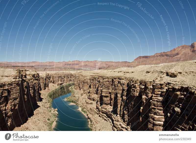 Sky Landscape Environment Climate River Elements USA Desert Mountain River bank Canyon Sky blue Arizona