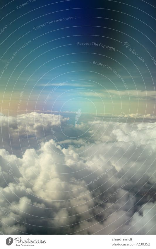 somewhere... Air Sky Clouds Horizon Weather In the plane Fantastic Infinity Blue Multicoloured Hope Belief Dream Surrealism Heaven Wonderful Natural phenomenon