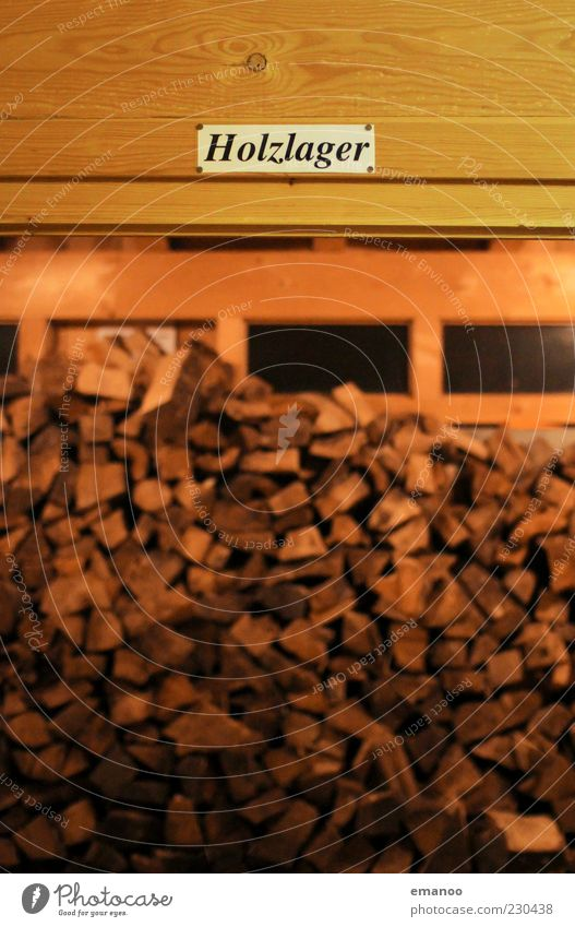 Wood in the hut Winter Hut Window Signs and labeling Brown Carbon dioxide Fuel Firewood Lumberyard Storage Room Neutral Background Energy Colour photo