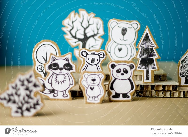 Nature Landscape Tree Animal Forest Environment Exceptional Group Together Multiple Stand Creativity Group of animals Idea Paper Figure