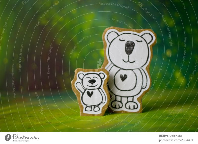 Pappland bear love Child Mother Adults Family & Relations Friendship Infancy Environment Nature Animal Bear 2 Animal family Smiling Love Exceptional