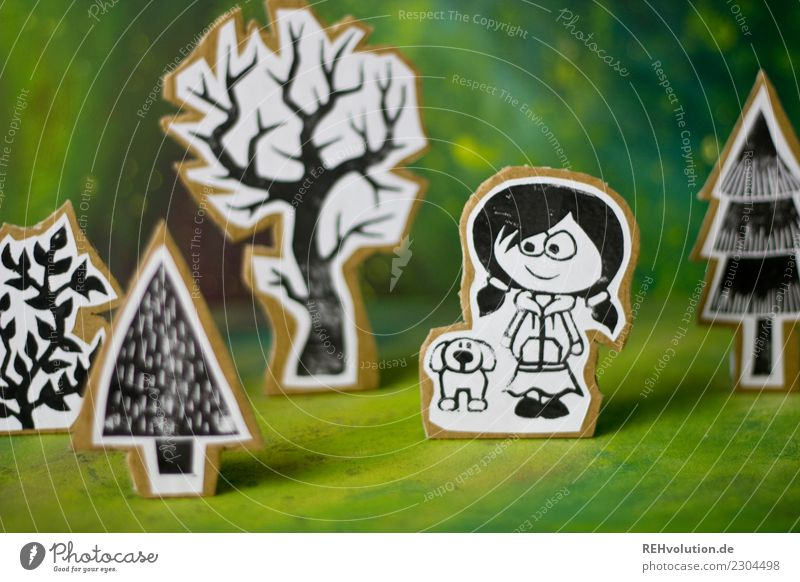 Child Human being Nature Dog Landscape Tree Animal Girl Environment Feminine Exceptional Going Infancy Creativity Idea Paper