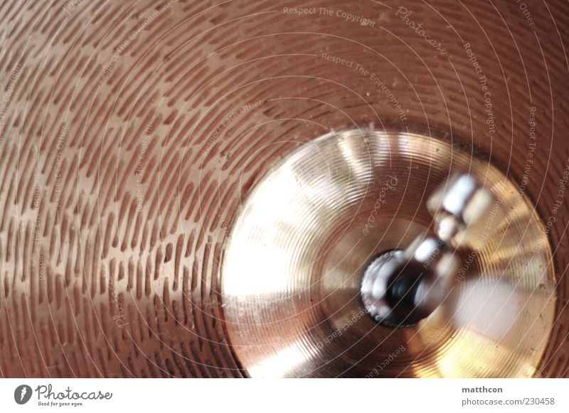 Drums Hi-Hat Music Drum set Metal Colour photo Exterior shot Blur Shallow depth of field Bird's-eye view Glittering Close-up Detail Deserted