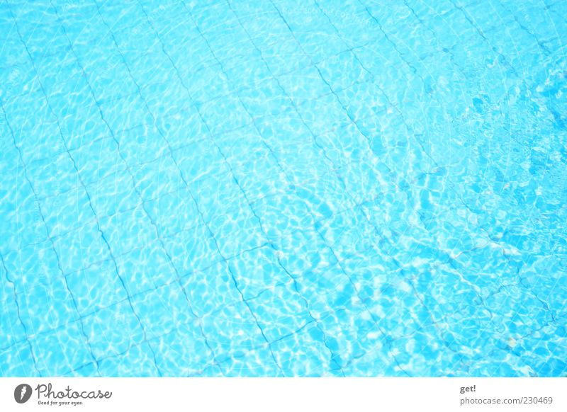 Blue Summer Swimming pool Tile Turquoise Copy Space Flat Surface of water Undulation