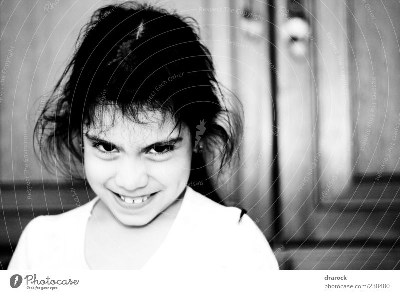 My turn Child Girl Infancy 1 Human being 3 - 8 years Observe Laughter Crazy Black White Euphoria Black & white photo Interior shot Close-up Artificial light