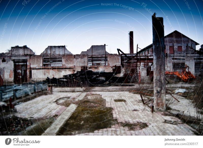 Calm House (Residential Structure) Building Dirty End Derelict Decline Ruin Destruction City Town