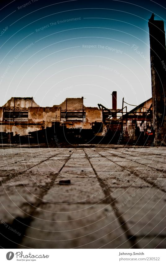 House (Residential Structure) Wall (building) Stone Wall (barrier) Dirty Facade Factory Derelict Decline Ruin Stagnating Industrial plant
