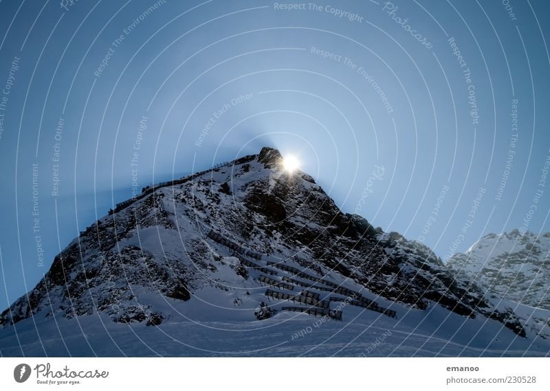 Sky Nature Blue Vacation & Travel Cold Dark Snow Landscape Mountain Moody Ice Rock Tall Climate Frost Point