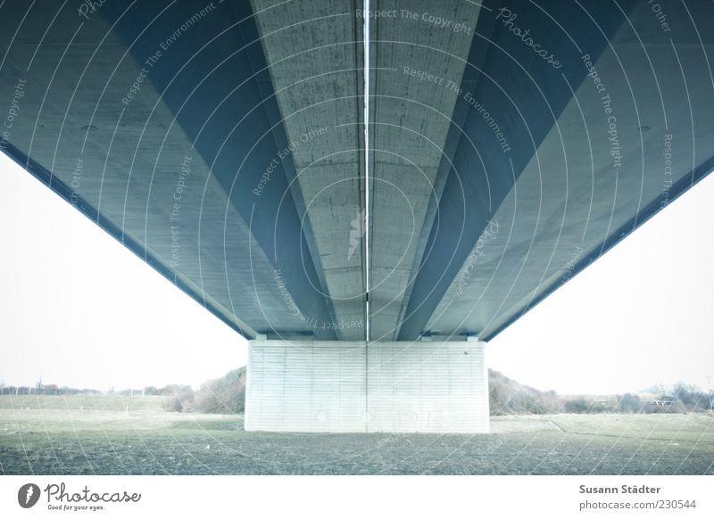 Far-off places Meadow Wall (barrier) Arm Concrete Bridge Roof Highway Symmetry Perspective Bridge pier Concrete wall Under a bridge