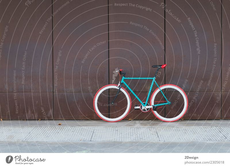 Cycling or commuting in city urban environment Lifestyle Elegant Style Sports Environment Transport Street Vehicle Fashion Old Bright Retro Green Black White
