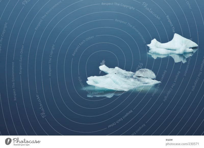 Nature Blue Ocean Calm Cold Environment Ice Climate Frost Iceland Float in the water Surface of water Iceberg Water Melt Ice floe