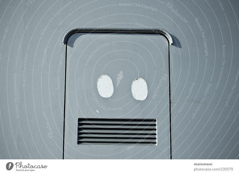Joy Gray Metal Art Design Lifestyle Decoration Sign Steel Sharp-edged Work of art Robot Flap Slit Youth culture Ornate