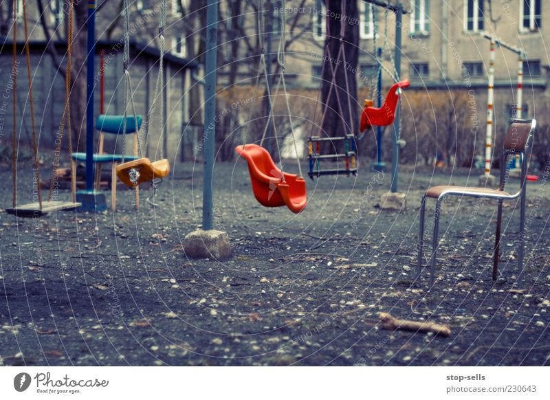 ...my playground Leisure and hobbies Chair Garden Infancy To swing Backyard Calm Stagnating Swing Untidy Suspended Still Life Playground Colour photo