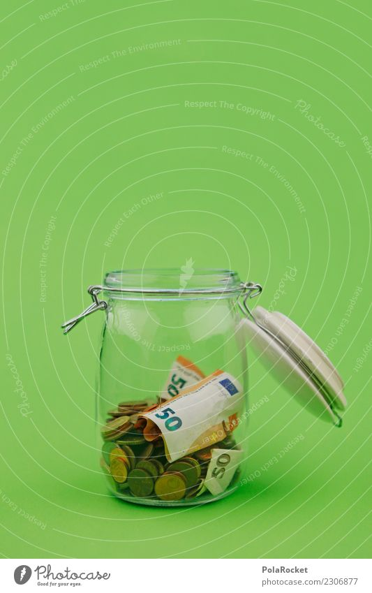 # A # Greek hole Art Esthetic Glass Green Save Money Money box 50 Euro Capital investment pay interest spared Collection Accumulate Donation Charity Donor