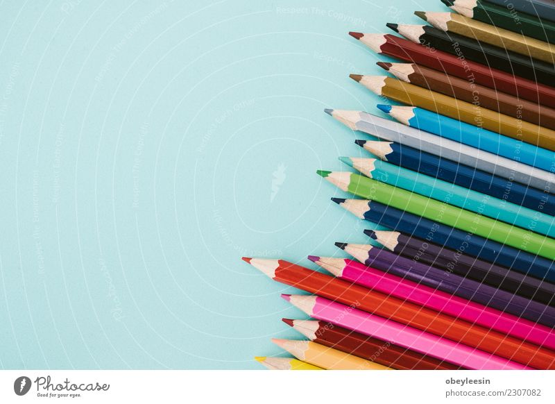 Coloring pencils Blue Colour Green Red Relaxation Yellow Wood Art School Group Brown Pink Bright Creativity Draw Craft (trade)