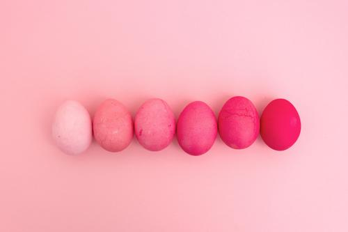 Gradient with Easter eggs Style Design Feasts & Celebrations Lie Make Esthetic Cool (slang) Bright Hip & trendy Round Beautiful Pink Patient Uniqueness Colour