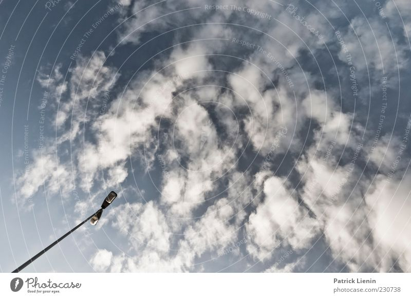 Sky Nature Blue White Clouds Environment Above Air Lamp Moody Weather Climate Elements Longing Beautiful weather Street lighting