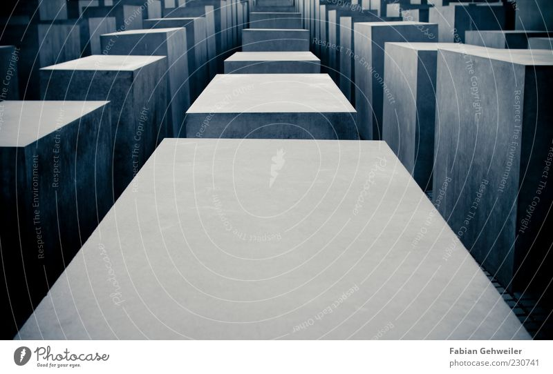 inception Art Work of art Capital city Monument Exceptional Creepy Blue Dream Concrete block Hard Cold Holocaust memorial Beaded Central perspective Remember
