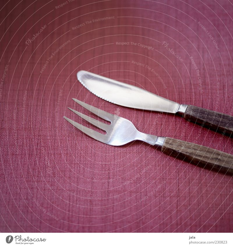 Wood Pink Esthetic Retro Knives Cutlery Fork